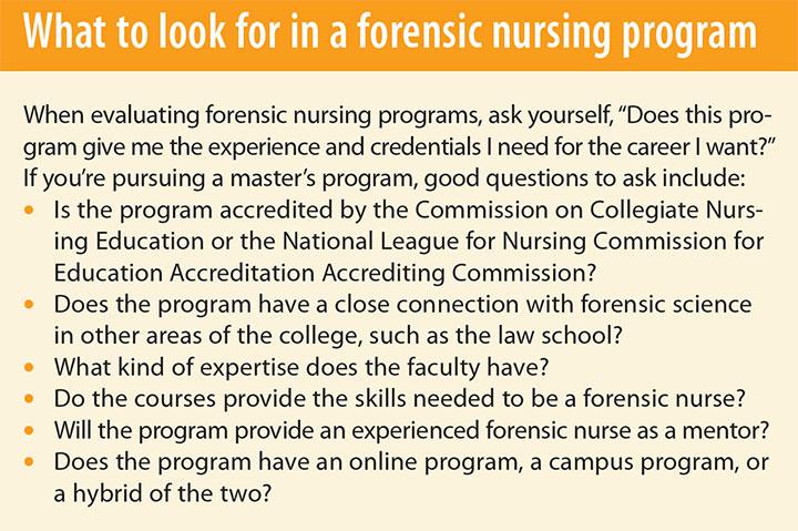 forensic nurses strides social justice program
