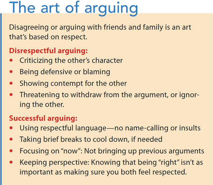 social wellness nurture relationships art arguing