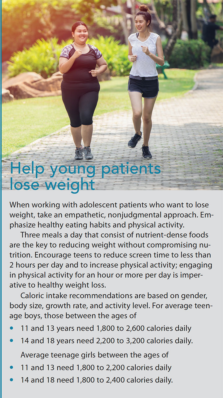 mobile diet exercise apps adolescent weight loss young patient help