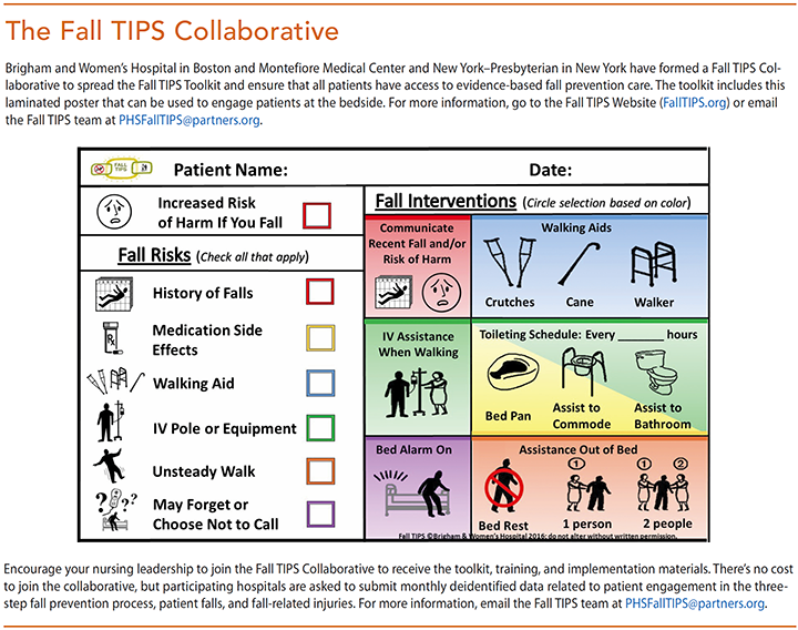 preventing falls hospitalized patients fall tips collaborative