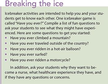 6 tips clinical nurse educators breaking ice