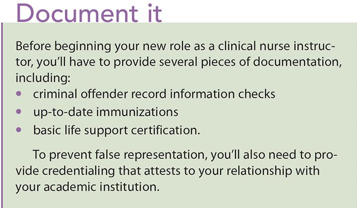 6 tips clinical nurse educators document
