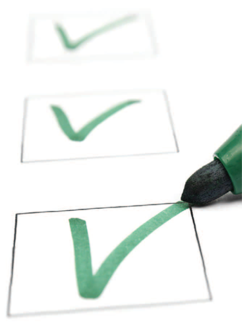 quality improvement daily checklist post