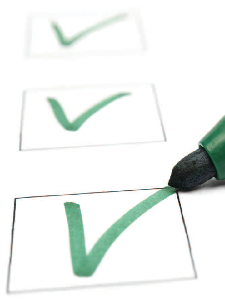 quality improvement daily checklist