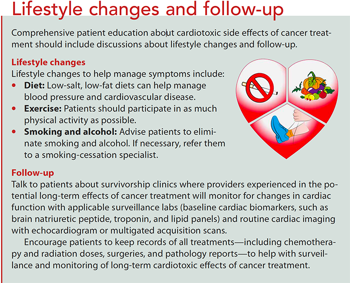 cardiotoxic effects of cancer therapy lifestyle