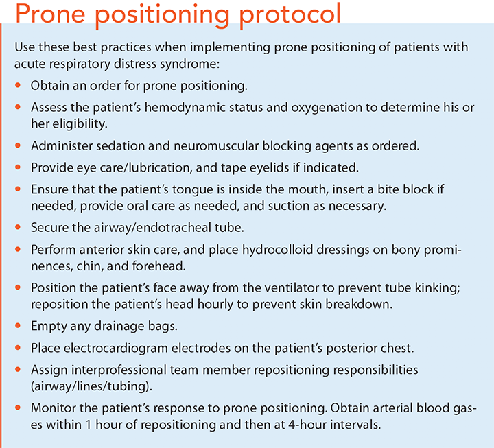 prone positioning in ards protocol