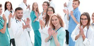 nurses clapping