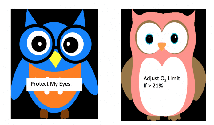 OWL protocol stickers for preventing ROP